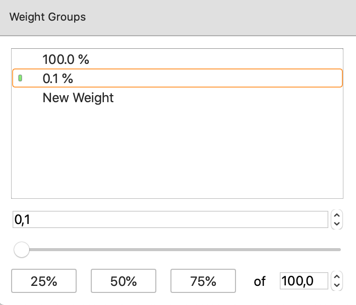 Creating weighted ranges in Poker