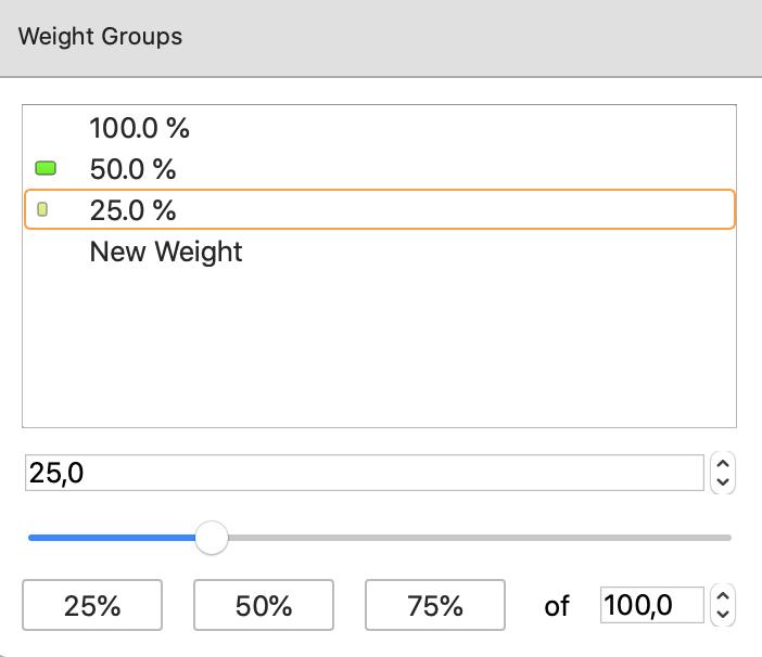 Three weight groups