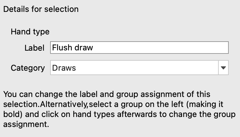 PokerRanger enables you to distinguish between nutflushdraw, 2nd nut flush draw, and other flushdraws